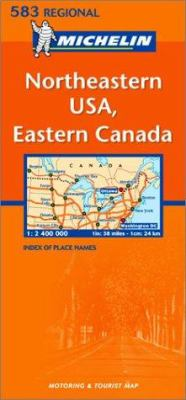 Michelin Map USA Northeastern, Eastern Canada 583 9782061007549