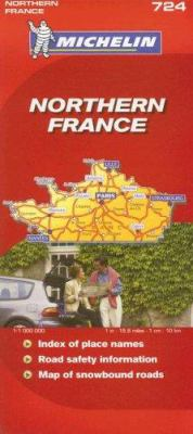 Michelin Northern France Map 9782067123175