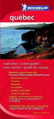 Michelin Quebec Regional Atlas & Travel Guide 9782067107250