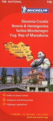 Michelin Slovenia, Croatia, Bosina & Herzegovina, Serbia, Montenegro, Yugoslavic Republic of Macedonia 9782067171947