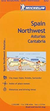 Michelin Spain: Northwest, Asturias, Cantabria Map 572 9782067175136