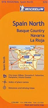 Michelin Spain: North, Basque Country, Navarra, La Rioja Map 573 9782067175143