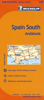 Michelin Spain: Andalucia Map 578 9782067175198