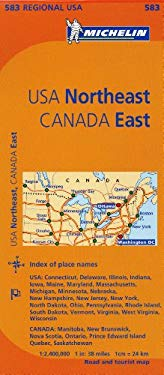 Michelin USA: Northeast, Canada: East Map 583 9782067175235