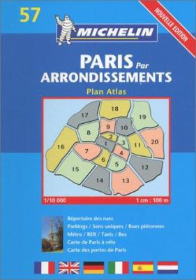 Paris Arrondissements Atlas- Michelin 9782067105928