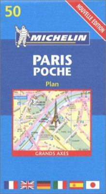 Paris Plan Poche 50 (Pocket Map) Michelin 9782067105850