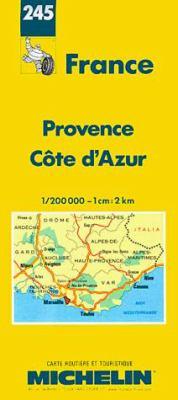 Provence French-Michelin Map 245 9782067002456