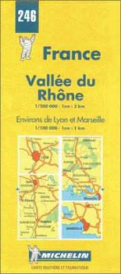 Vallee Du Rhone-Michelin Map #246 9782067002463