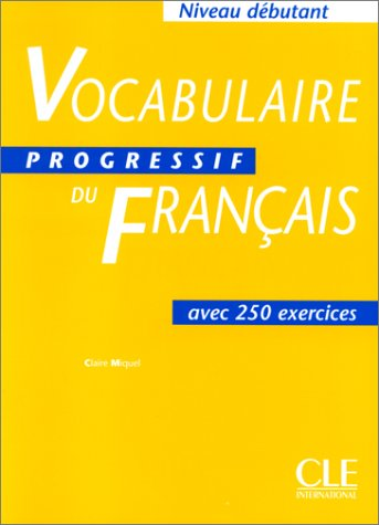 Vocabulaire Progressif Du Francais Textbook (Beginner) 9782090338782