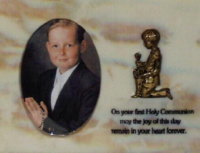 Communion Boy Resin Photo Frame