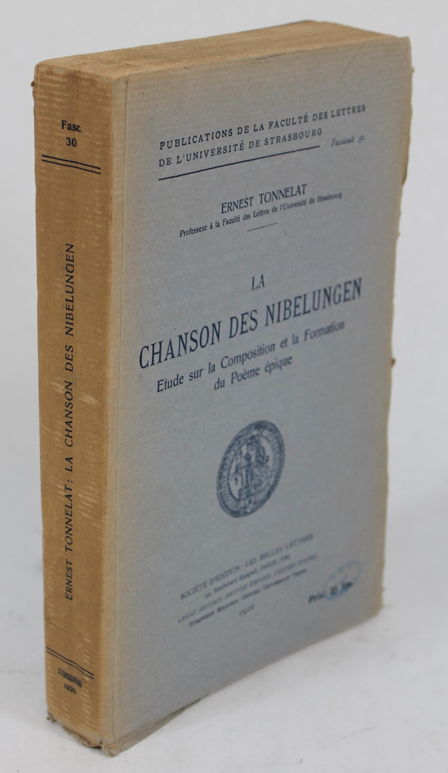 La Chanson des Nibelungen; Etude sur la Composition et la Formation du Poeme Epique BWB22739659