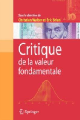 Critique de La Valeur Fondamentale 9782287730696