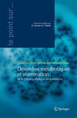 D Sordres M Taboliques Et R Animation: de La Physiopathologie Au Traitement 9782287990267