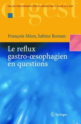 Le Reflux Gastro-Oesophagien En Questions 9782287210273