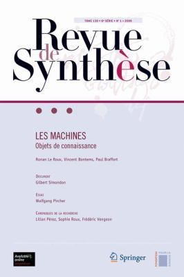 Les Machines: Objets de Connaissance 9782287992735