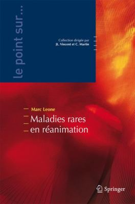 Maladies Rares En Reanimation 9782287990694