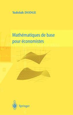 Math Matiques de Base Pour Conomistes 9782287597411