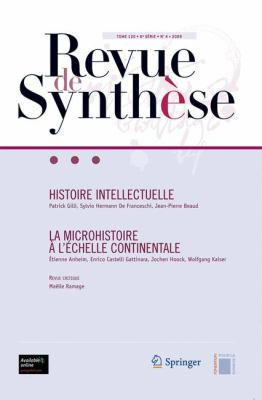 Histoire Intellectuelle La Microhistoire L' Chelle Continentale 9782817800226