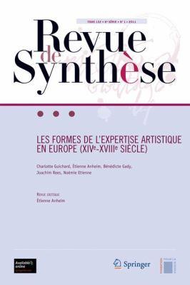 Les Formes de L Expertise Artistique En Europe (Xive-Xviiie Si Cle)