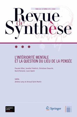Revue de Synth Se: L Int Riorit Mentale Et La Question Du Lieu de La Pens E