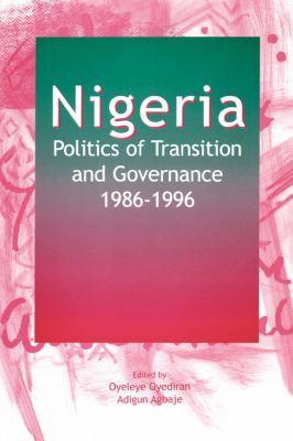 Nigeria: Politics of Transition an 9782869780712