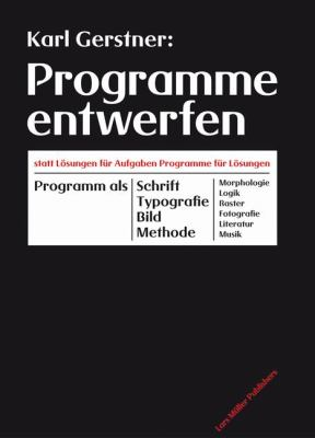 Programme Entwerfen 9783037780923