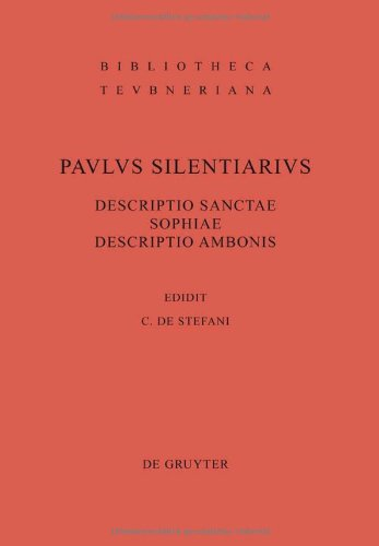 Descriptio Sanctae Sophiae. Descriptio Ambonis 9783110221268