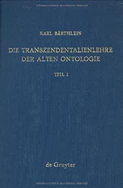 Die Transzendentalienlehre Im Corpus Aristotelicum 9783110040210