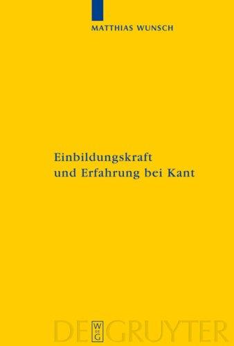 Einbildungskraft Und Erfahrung Bei Kant 9783110193176