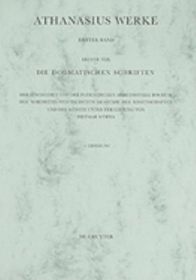 Epistulae I-IV AD Serapionem 9783110227703