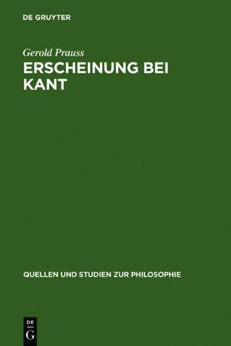 Erscheinung Bei Kant: Ein Problem Der