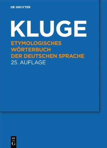 Etymologisches W Rterbuch Der Deutschen Sprache