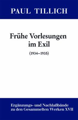 Fr He Vorlesungen Im Exil: (1934-1935)