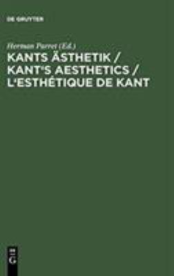 Kants Sthetik Kant's Aesthetics L'Esth Tique de Kant 9783110129304