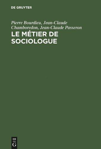 Le Metier de Sociologue 9783110174298
