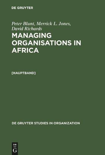 Managing Organisations in Africa 9783110126464