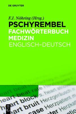 Pschyrembel Fachworterbuch Medizin 9783110220315