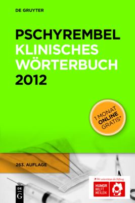 Pschyrembel Klinisches Worterbuch [With Web Access] 9783110251661