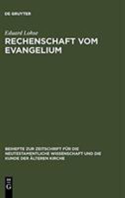 Rechenschaft Vom Evangelium: Exegetische Studien Zum Romerbrief 9783110193589