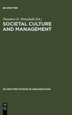 Societal Culture and Management 9783110122114