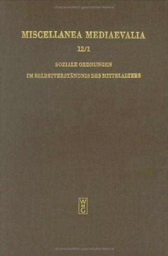 Soziale Ordnungen Im Selbst-Verstaend 1 MM 12/1 9783110080278