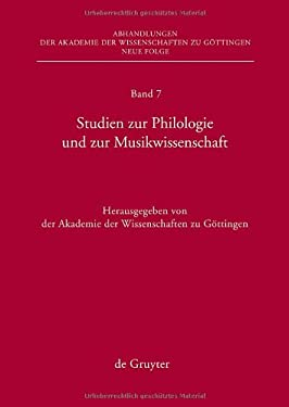 Studies on Philology and Musicology 9783110217636