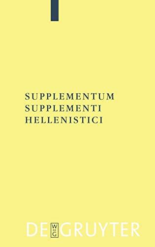 Supplementum Supplementi Hellenistici 9783110185379