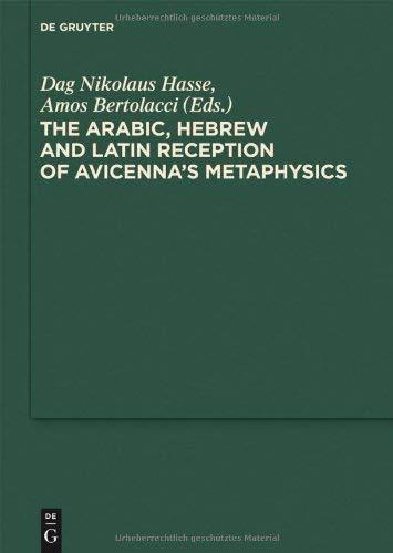 The Arabic, Hebrew and Latin Reception of Avicenna's Metaphysics 9783110215755