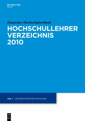 Universitaten Deutschland 9783110230680