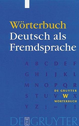 W Rterbuch Deutsch ALS Fremdsprache 9783110164077
