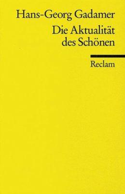 Die Aktualitat DES Schonen Contemprain (Universal-Bibliothek ; Nr. 9844) (German Edition) 9783150098448