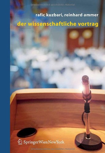 Der Wissenschaftliche Vortrag 9783211235256