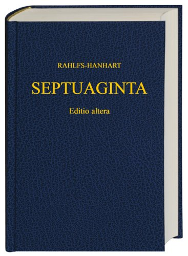 Greek Old Testament-Septuaginta 9783438051196