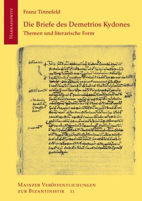 Die Briefe Des Demetrios Kydones 9783447063050